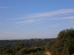 Camino de Asque, una vista de Adahuesca