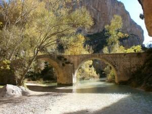 Puente de Villacantal, sobre el río Vero