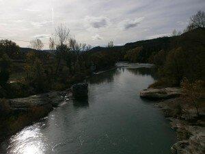 Graus. Estribos antiguo puente de hierro