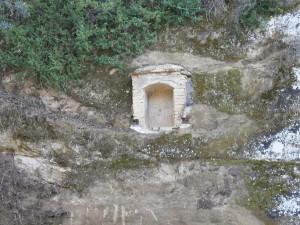 Junzano. Hornacina camino del puente de Farmiñosa