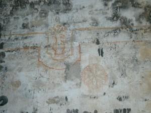 Pinturas en el interior de la ermita de La Tobeña