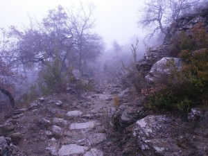 Chiriveta. Detalle de la senda de la ermita