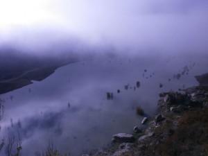 Una visión de las aguas del pantano Cañelles, desde la ermita de Ntra. Sra. del Congost