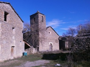 Iglesia de Chiriveta, principio y final de la ruta de hoy
