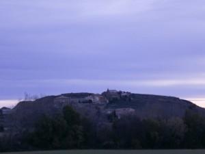 Una vista de Castilsabás, camino de la ermita de Ntra. Sra. del Viñedo