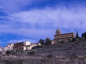 Abandonando el pueblo de Castilsabás