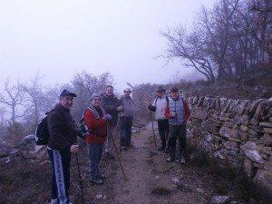 Chiriveta. Parte del grupo, camino de la ermita