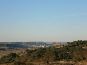 Una vista de Monzón y su castillo que todo lo domina