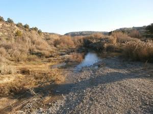 Cauce casi seco del río Sosa