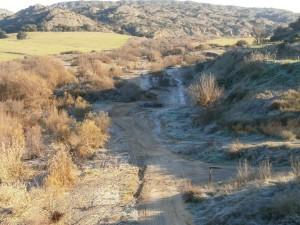 Aquí se puede apreciar la amplitud del cauce del río Sosa