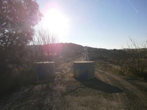 Canal de Aragón y Cataluña. Camino rodado sobre el sifón del río Sosa