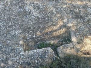 Excavaciones que se iban haciendo en las rocas para la recogida de las aguas