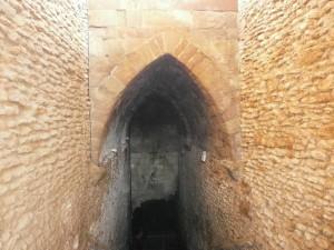 """Laluenga. Detalle del arco apuntado en el Pozo Fuente denominado """"La Catedral del Agua"""""""