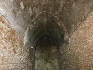 """Laluenga. Detalle de la bóveda en el Pozo Fuente denominado """"La Catedral del Agua"""""""