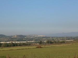 Camino de Pertusa, una vista del pueblo de Antillón