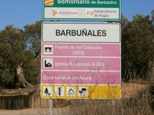 Entrando en Barbuñales