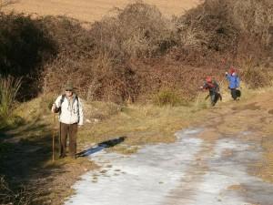 Camino de Hoz de Barbastro. Sorteando barrancos embarrados