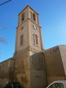 Laluenga. Torre de la iglesia de Santa Maria Magdalena