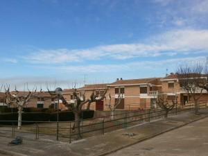 """Purroy de la Solana. Una vista del """"pueblo nuevo"""""""