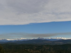 Una vista de El Turbón, camino de Benabarre