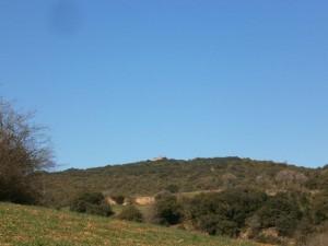 Una vista de la Ermita de San Salvador, camino de Benabarre