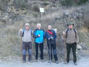 Santaliestra. Parte del grupo al iniciar la subida a Aguila