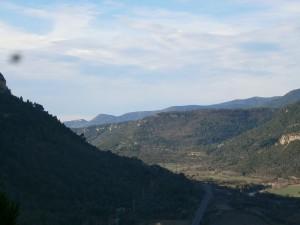 Vista del valle del Ésera y el Mon de Perarrúa al fondo