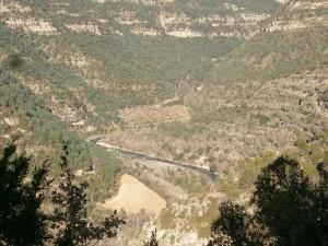 Santaliestra. Vista del río Ésera