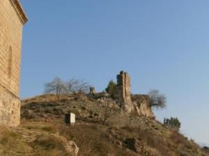 Olsón. Restos del antiguo castillo