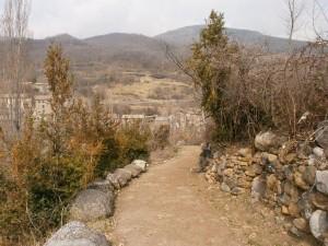 Beranuy. Bajada al puente medieval
