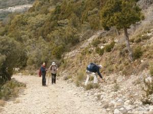 """Ya cerca del Alto de la Carrasca. Angel y sus """"polilitos"""""""