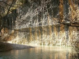 Alquezar. Río Vero. Pasarelas