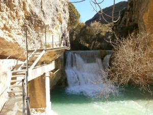 Alquezar. Río Vero. Azud para la Central Hidroeléctrica