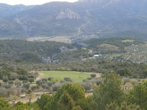 La Aldea de Puy de Cinca, al fondo