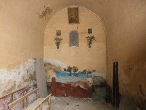 Pardinella. Interior de la iglesia parroquial