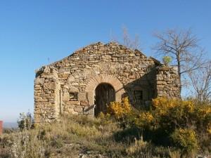 Abizanda. Ermita de Santiago, en situación de ruina