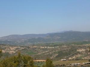 Castillo de Escanilla. Una vista del pueblo de Lamata