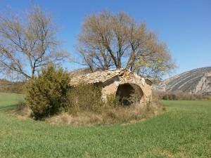 Ligüerre de Cinca. Ermita de Santiago en ruinas