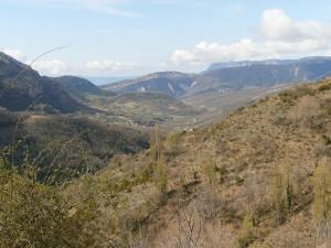 Valle del Isábena, desde el alto de Calvera