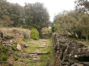 Pedruel. Antiguo camino de acceso