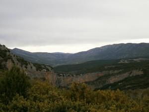 Camino de Bierge. Vista del valle de Rodellar