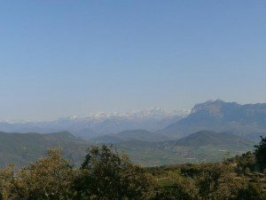 Peña Montañesa y Monte Perdido, desde Troncedo