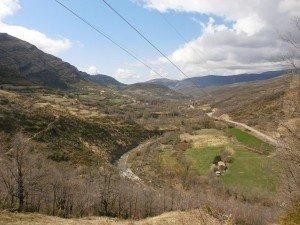 Camino de Morens. Vista del valle del Isábena