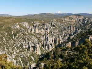 Rodellar. Barranco del Mascún, con sus originales formaciones geológicas