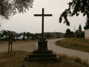Cregenzán. Cruz en la ermita de Santa Bárbara
