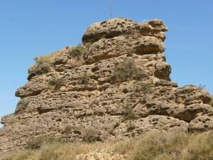 Albelda. Curiosa formación geológica