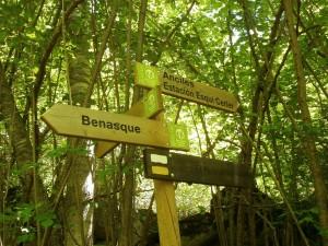 Cerler. Camino de Benasque