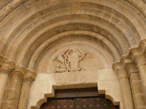 Berbegal. Detalle del tímpano, dintel y arquivoltas de la Colegiata Santa Maria La Blanca