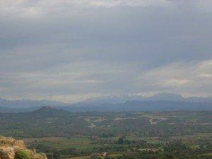 Berbegal. Vista de El Pueyo y El Turbón