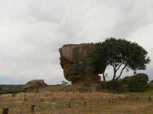 Berbegal. Ermita de Santa Águeda; original afloramiento rocoso
